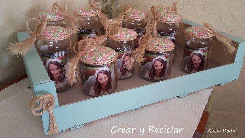Pin de crear y reciclar en hogar crear y reciclar for Reciclar frascos de vidrio de cafe