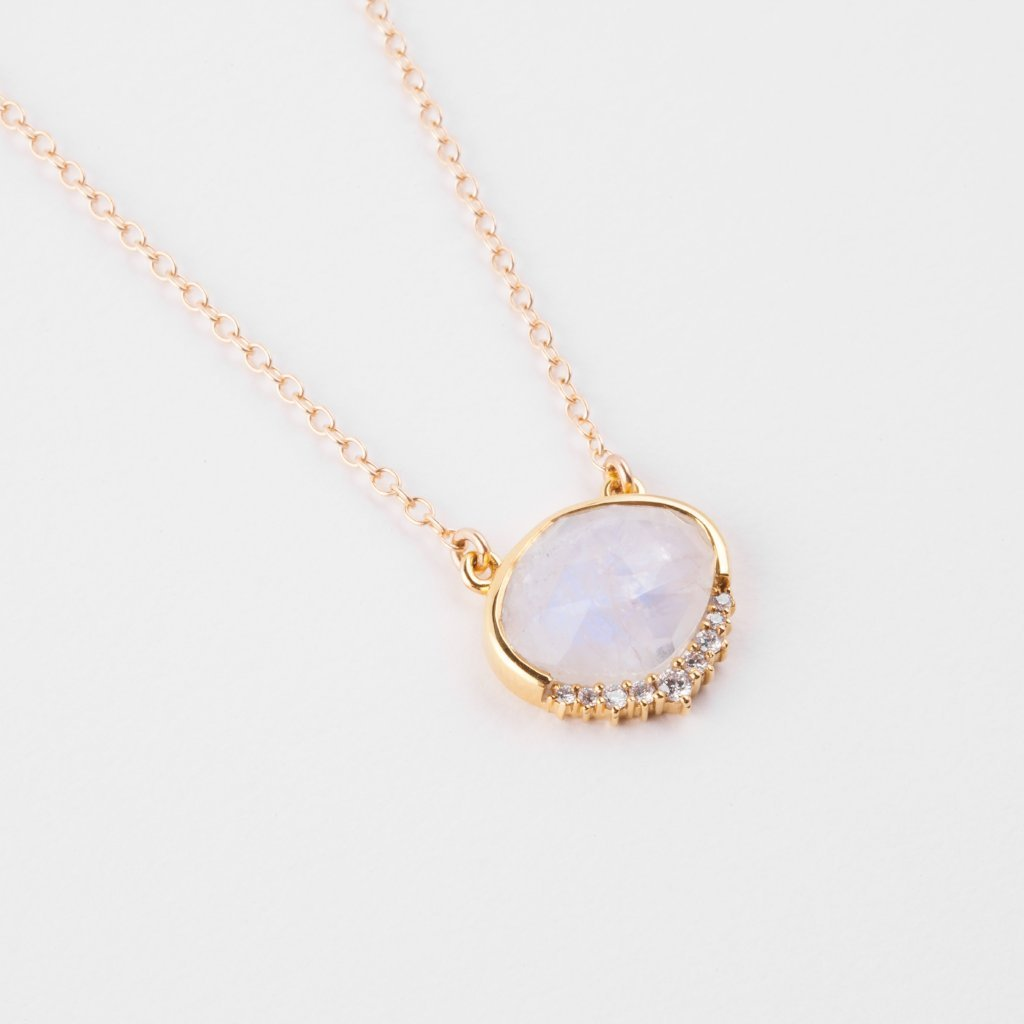 Anni moonstone necklace moonstones and gold filled chain