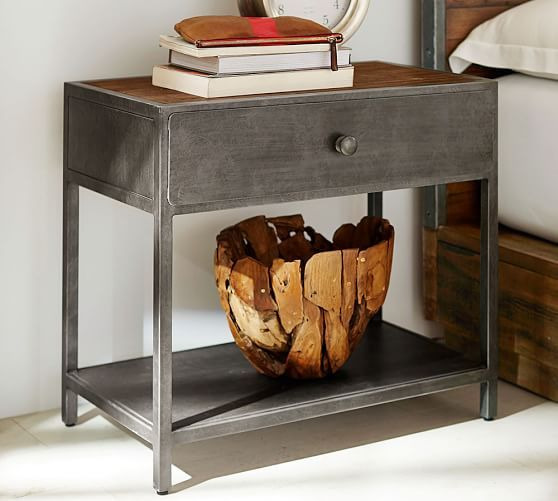 Big Daddy\'s Antiques Metal Nightstand