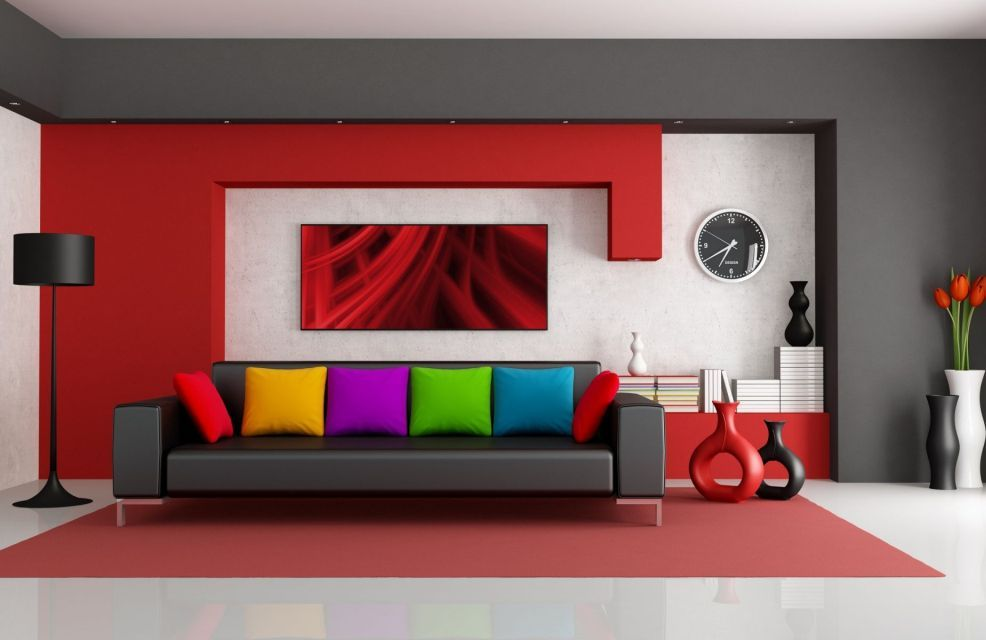 25 Awesome Rainbow Colors Interior Design Ideas Living Room Red
