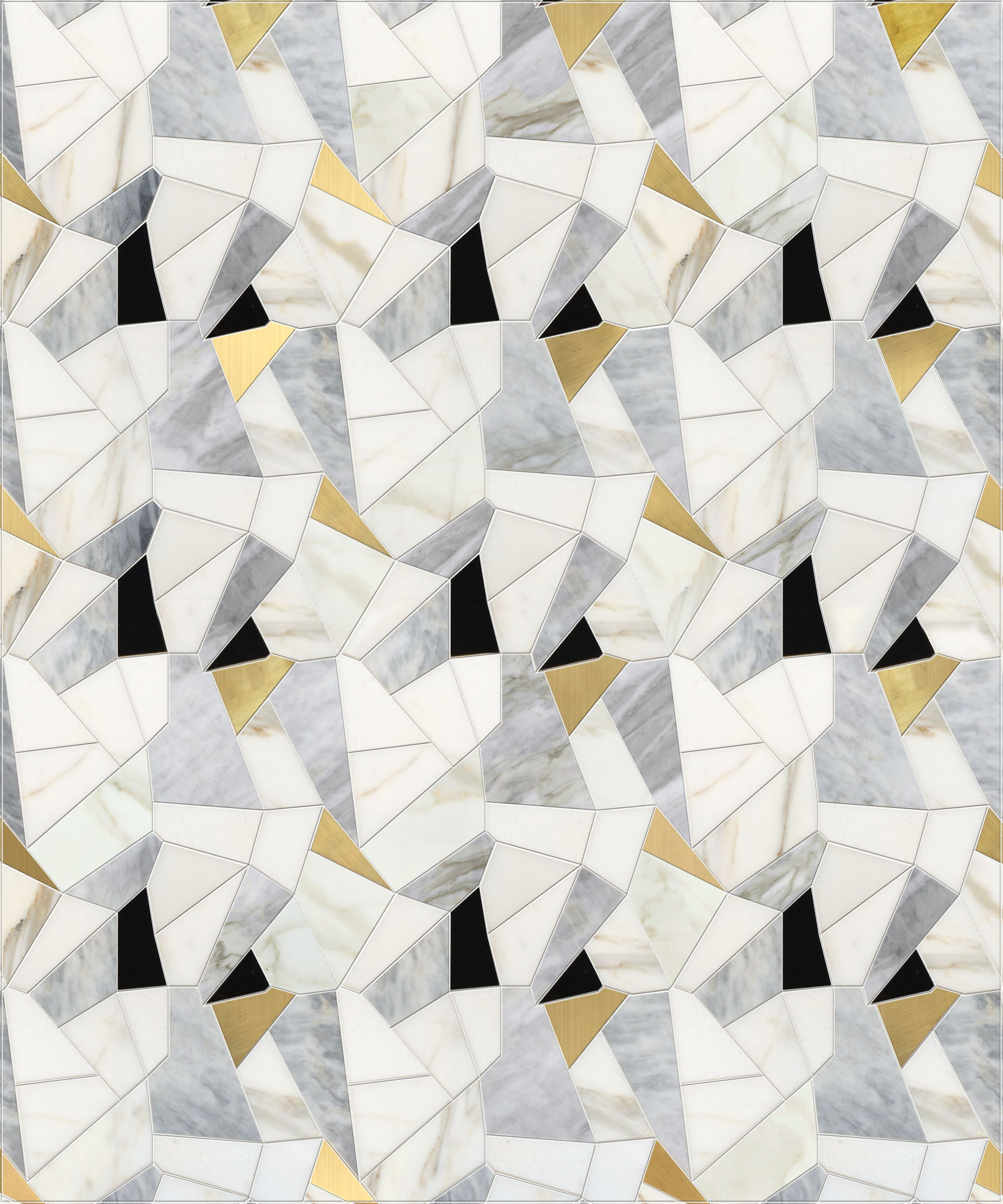 Dupont  Odysse Collection featured in natural stones Calacatta Oro Pacifica Blue  Nero