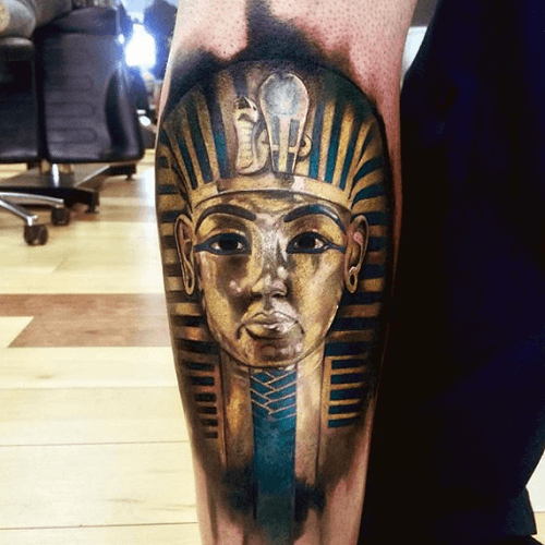 Tatouage Egyptien Bras Pharaon Couleurs Tatouages Tattoos