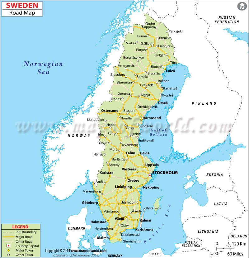 map of sweden with cities - Google Search Sweden Pinterest - blank road map