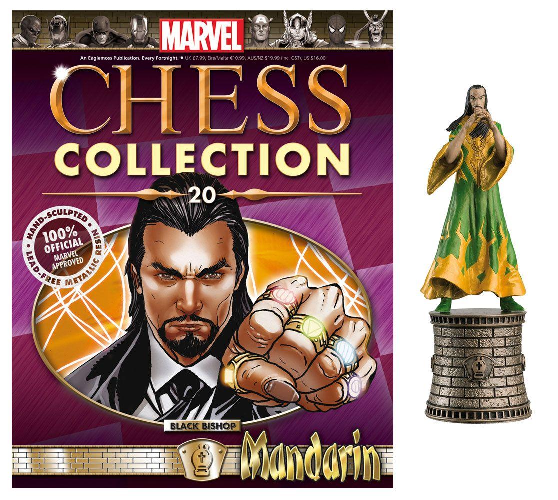 Eaglemoss Marvel Chess Collection Mandarin Chess Piece #20 Black Bishop w//Mag