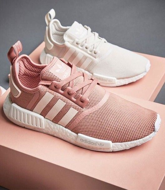 Wheretoget , Adidas sneakers in pastel pink and white