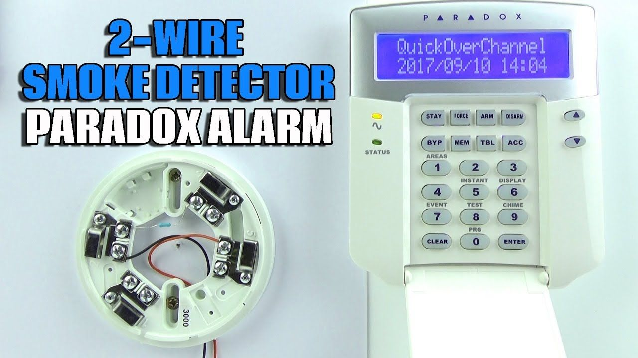 medium resolution of 2 wire smoke detector wiring on paradox evo alarm panel