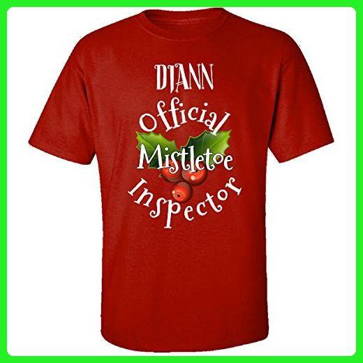 Diann Official Mistletoe Inspector Christmas Adult Shirt Xl Red