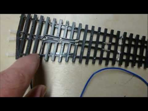 dean park station video 9 - how to wiring up peco turnouts for dcc with  peco point motors - youtube