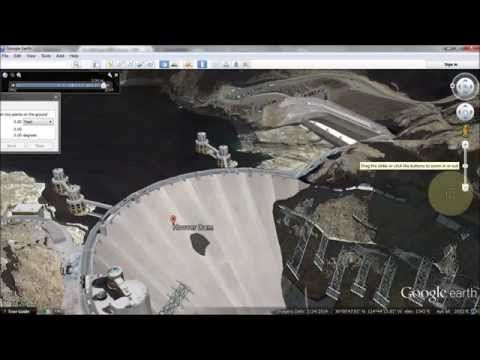 A Crack In Hoover Dam Google Earth: 666 and 322 - YouTube | HOOVER