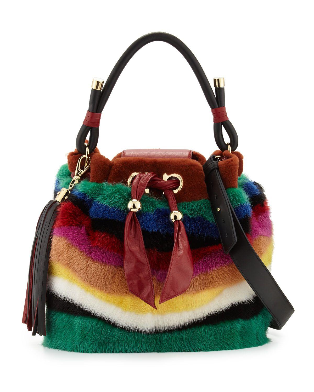Salvatore Ferragamo Sara Medium Mink-Fur Bucket Bag eb6159cf9dcda