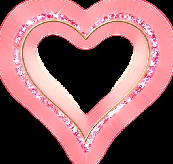 Pink Diamond Transparent Frame Gold Heart Wedding Frames Heart Frame Valentine