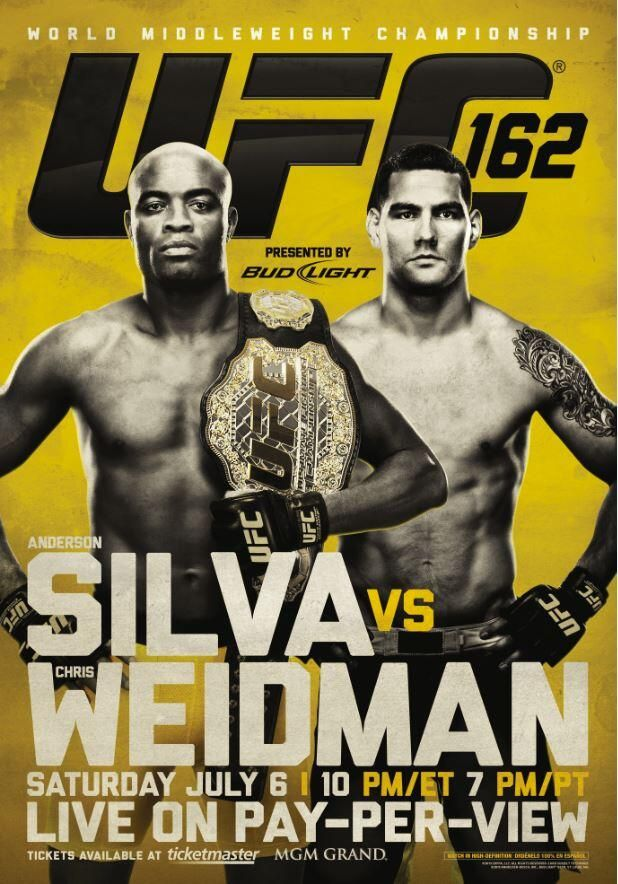 Ufc 162 Silva Vs Weidman Ufc Poster Weidman Ufc