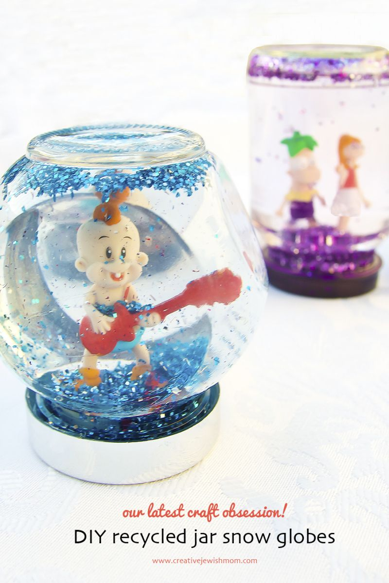 Diy Snowglobes Using Recycled Jars Recycled Jars Recycling For