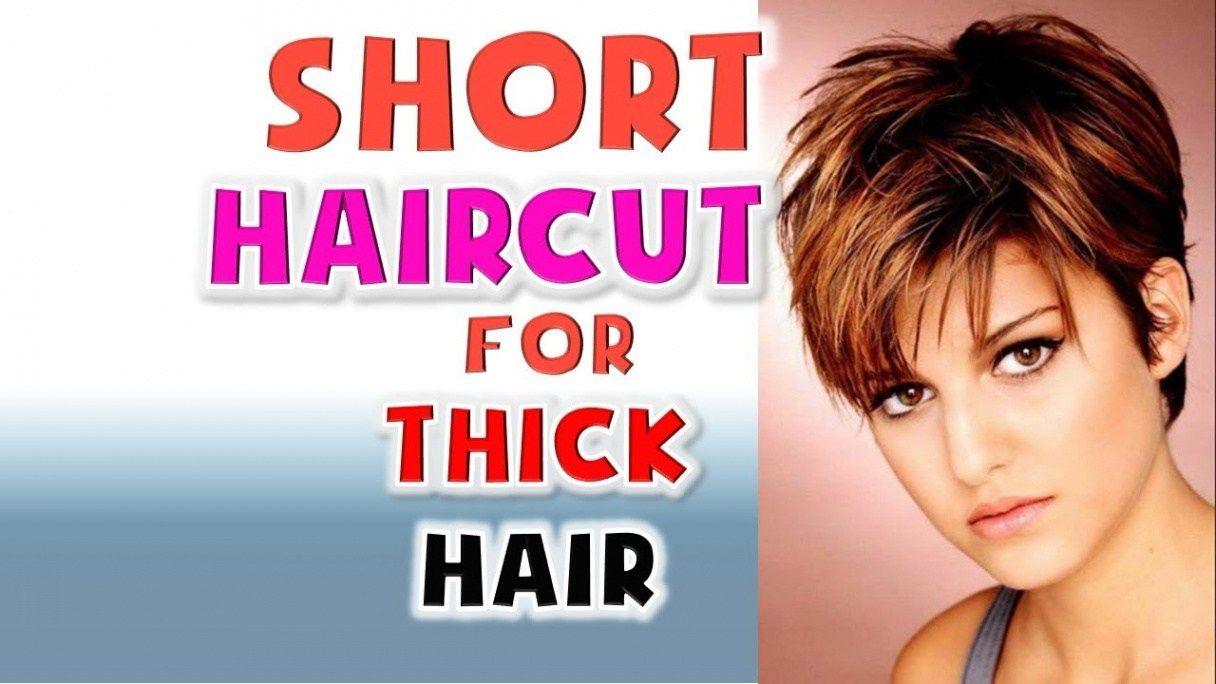Short Haircut for Thick Hair Women Hairstyles Ideas 10 - short