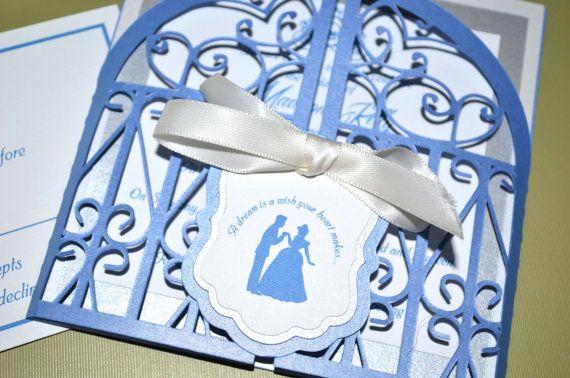 Fairy Tale Wedding Invitations – Cinderella, Regal Gate Fold