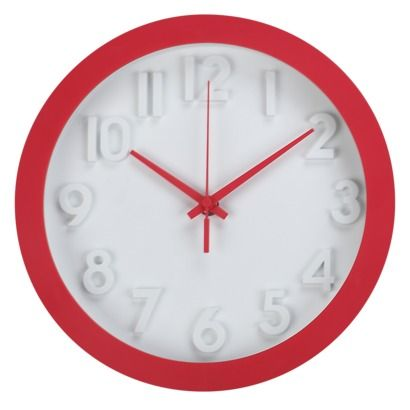 10 Quot Raised Numbers Lollipop Red Wall Clock From Target