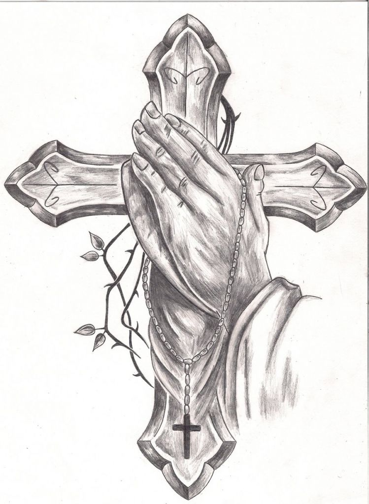 96e746e25fb5c Cross Tattoo Drawings Praying Hands Tattoos Designs Ideas And Meaning  Tattoos For You