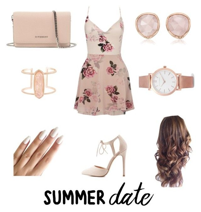 """""""Rooftop"""" by angel091 ❤ liked on Polyvore featuring Lipsy, Charlotte Russe, Givenchy, Kendra Scott, Monica Vinader, Larsson & Jennings, summerdate and rooftopbar"""