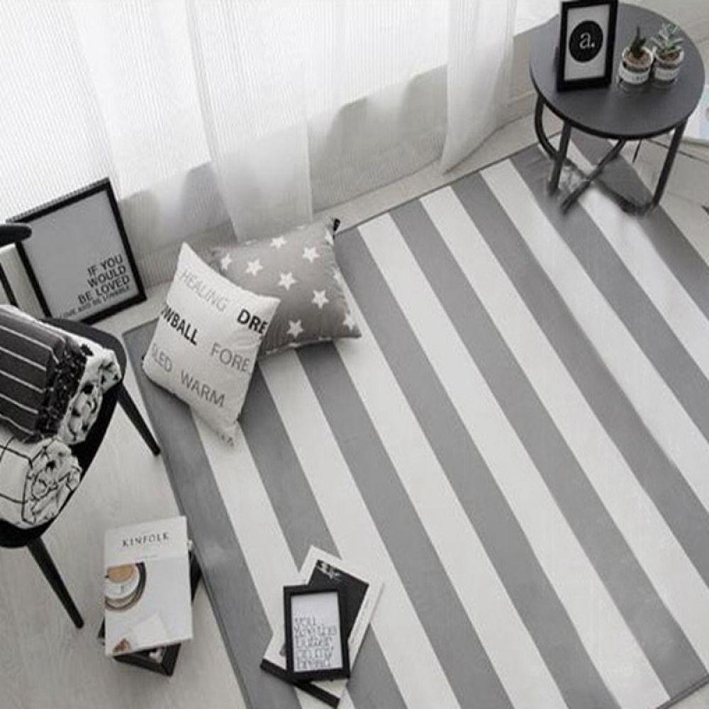 Modern Geometric Striped Carpet Rugs Korean Style Living Room Table Children Carpet Non Slip Home Decor Rectangle Bedroom Mats Home Depot Carpet Diy Carpet Stair Runner Carpet