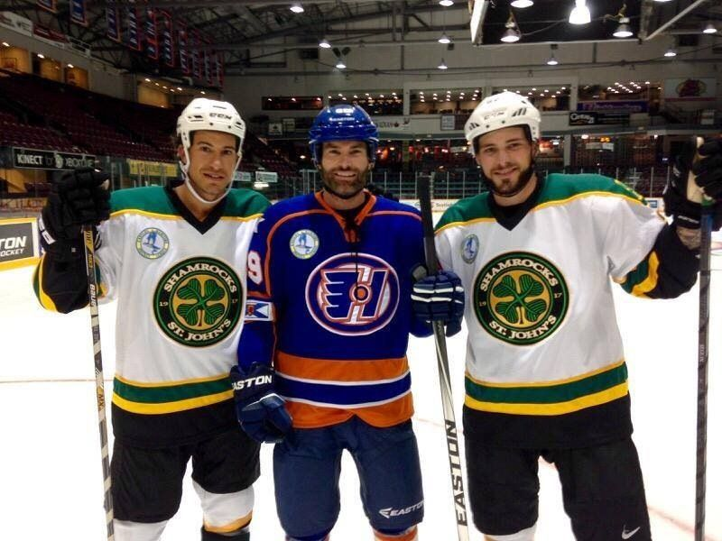 Nhl Players Tyler Seguin And Michael Del Zotto On The Set Of Goon Last Of The Enforcers R Movies Tyler Seguin Nhl Players Seguin