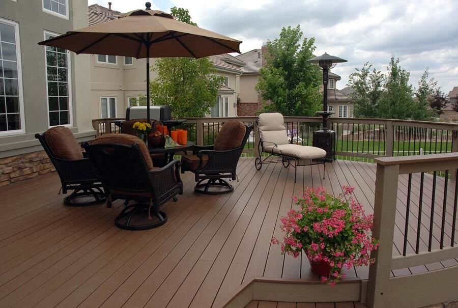 Deck Building Cost Calculator Estimate Prices Of Trex Composite Pvc And Pressure Treated Wood Decks Deck Building Cost Deck Cost Building A Deck