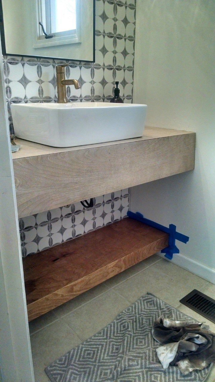 Floating Vanity DIY Modern Bathroom Decor Diy bathroom