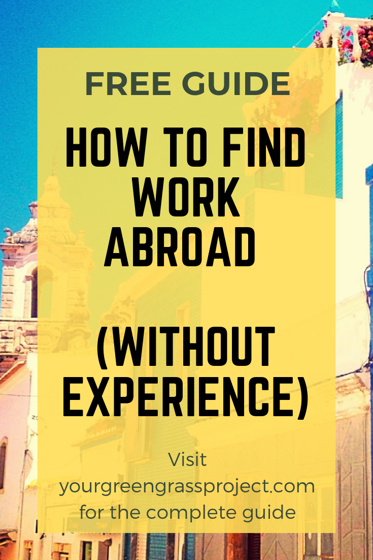 How to find work abroad