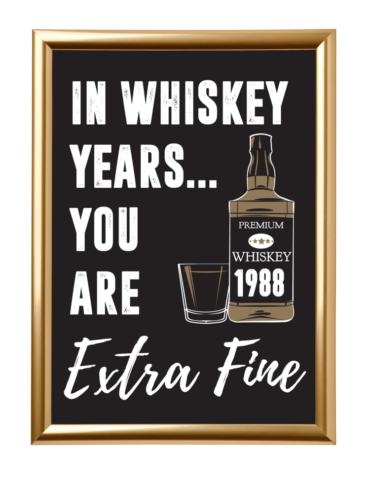 Photo of In Whiskey Years You Are Extra Fine Sign – birthday party ideas