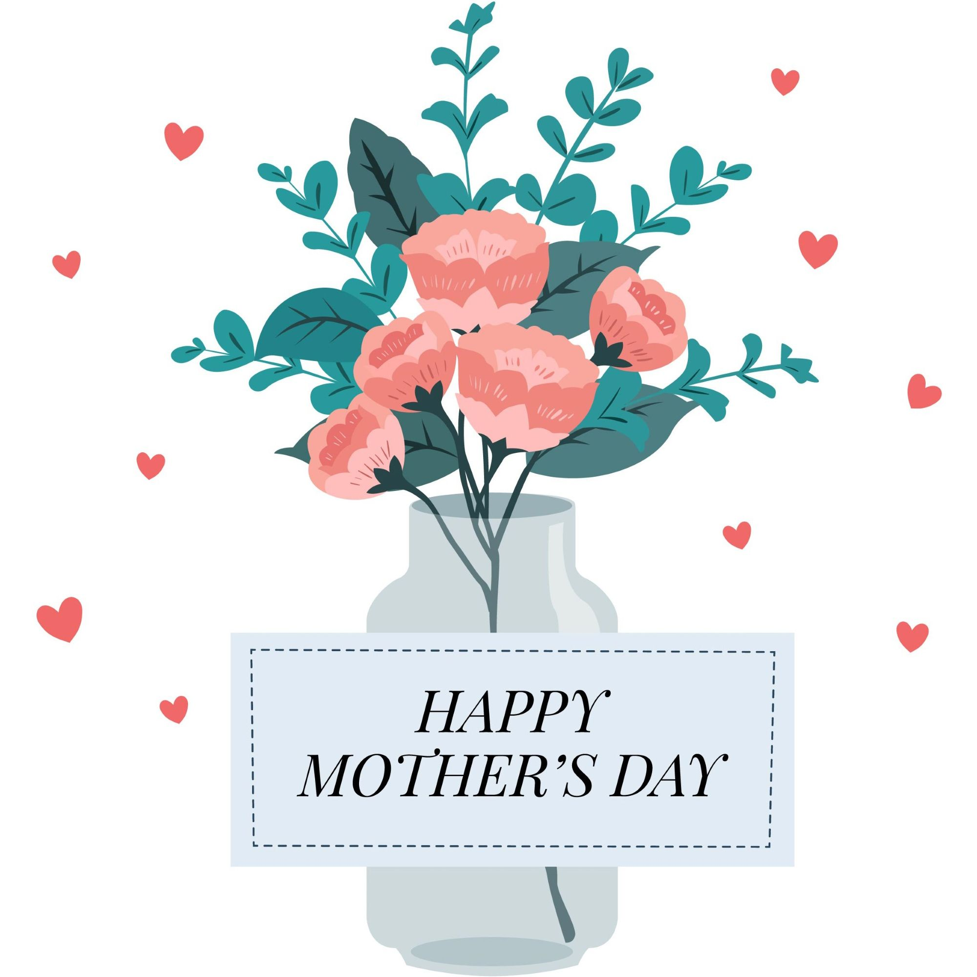 Happy mother\'s day layout design with roses, lettering, ribbon ...