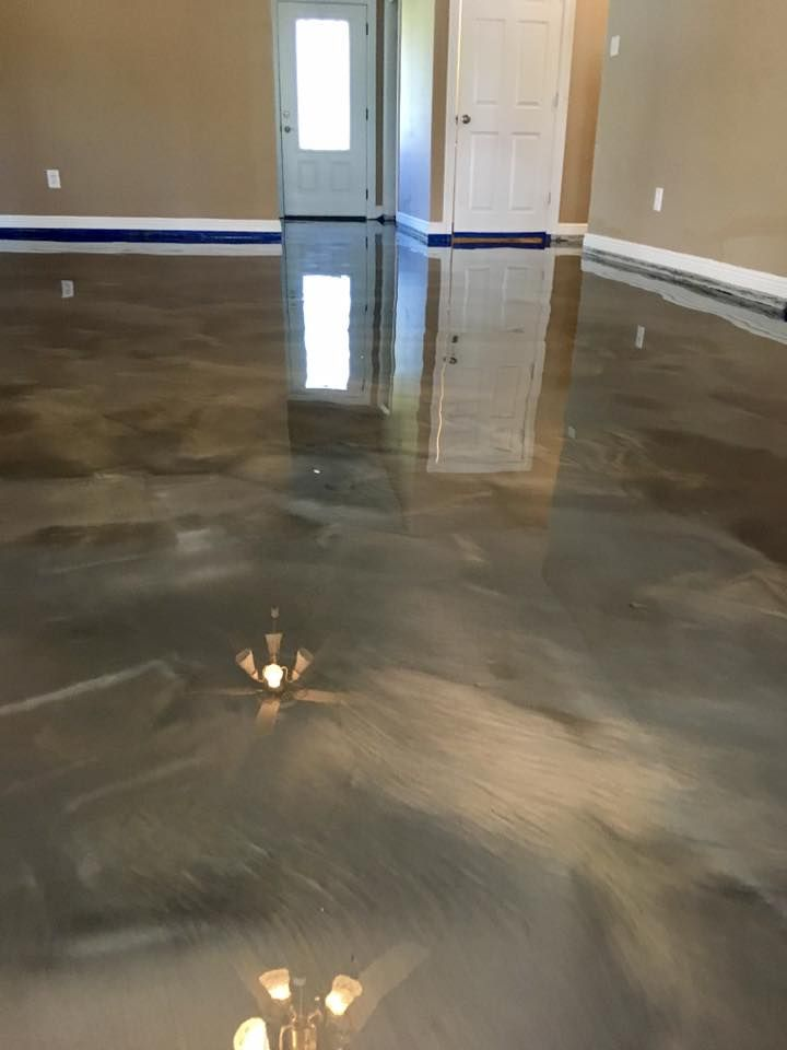 Incredible Metallic Epoxy Flooring In The Lafayette La Area