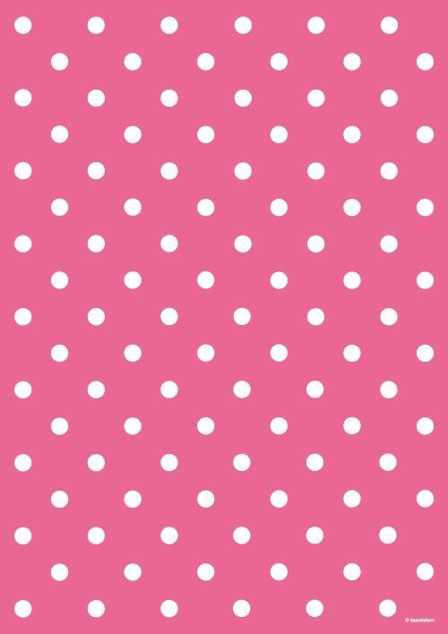 Hot Pink Polka Dot Wring Paper Dots Wallpaper Background