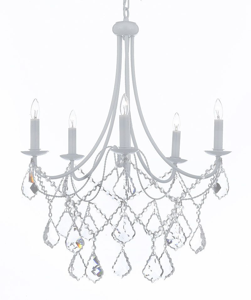 Wrought iron crystal white chandelier lighting country french wrought iron crystal white chandelier lighting country french fixture lamp light aloadofball Choice Image