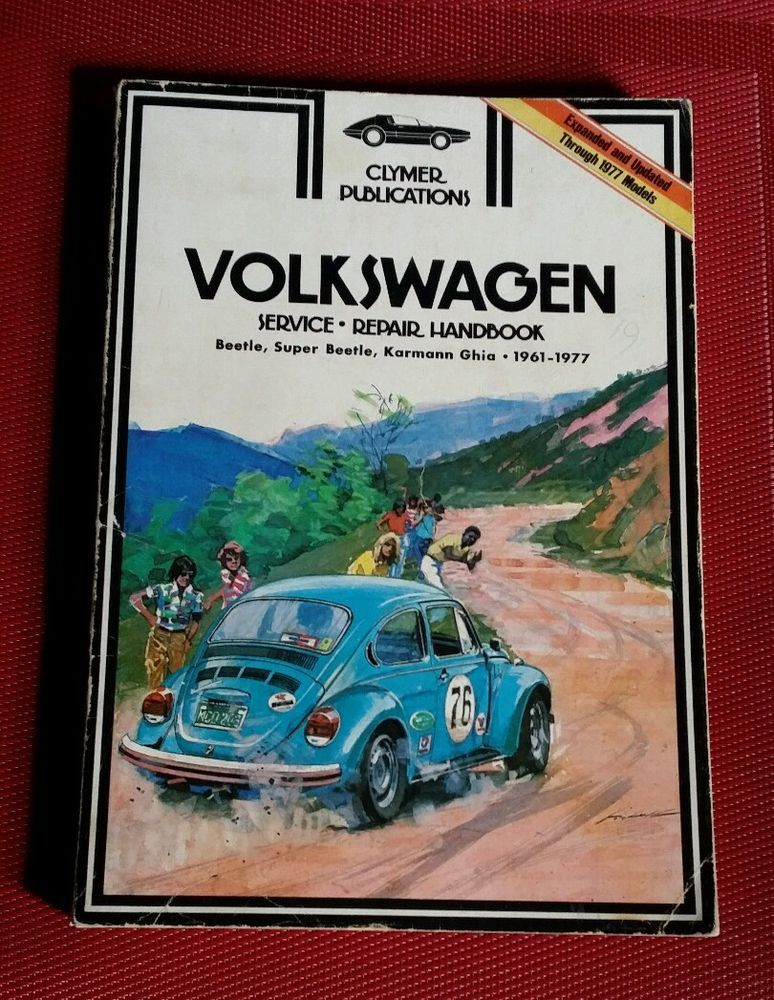 Clymer Volkswagen Service Repair Handbook 1961 1977 Super Beetle Karmann Ghia Pb Clymer Volkswagen Beetle Book Collection