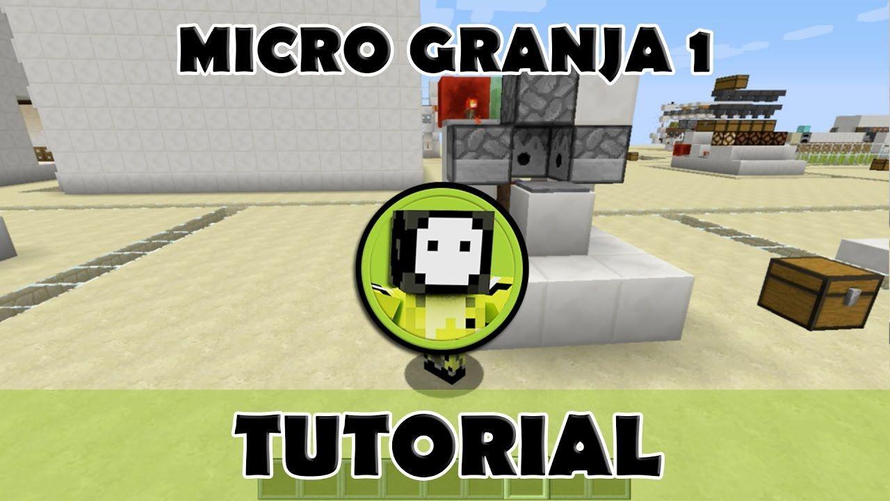 Tutorial Minecraft Micro Granja Automática De Comida Minecraft Granja Minecraft Granja