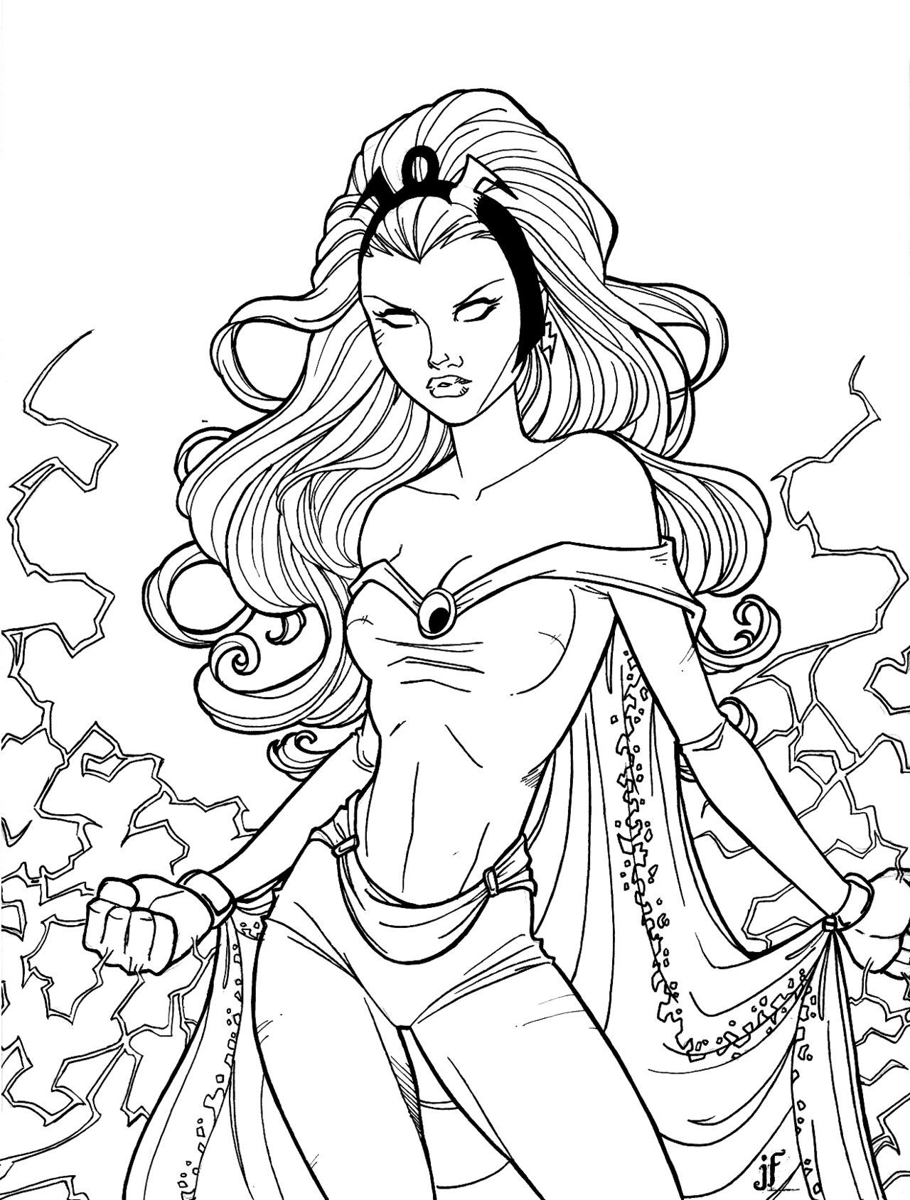 Storm superhero coloring pages download and print for free | adult ...