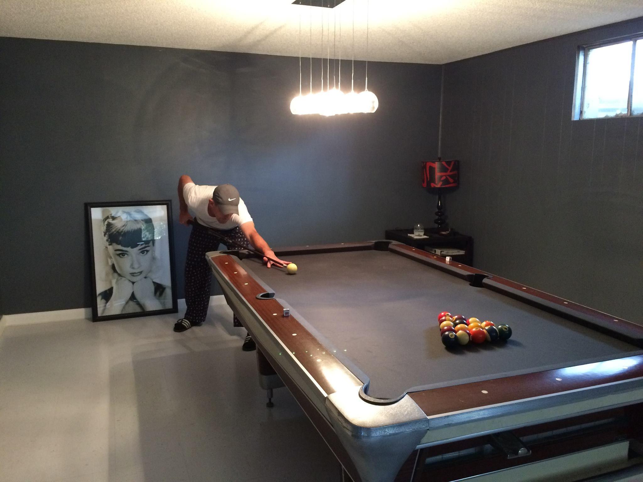 Vintage Fischer Pool Table Garys Swanky Basement Pinterest - Fischer pool table