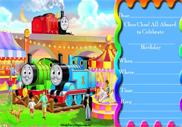 Free Printable Thomas The Train Birthday Invitations