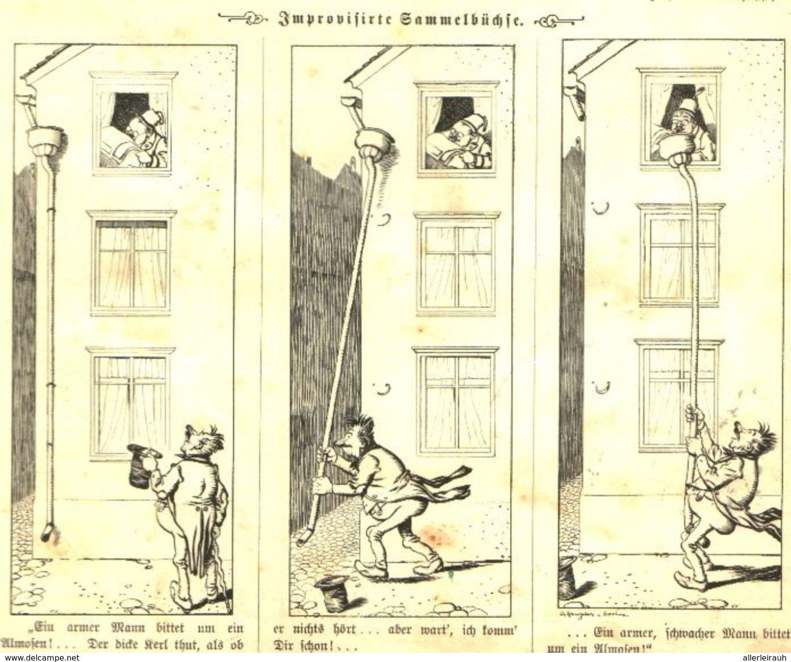 Die Improvisierte Sammelbuchse Cartoon Entnommen Aus Zeitschrift 1901 Artikelnummer 487359493