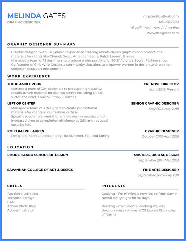 Free Resume Templates & Resume Builder - Cultivated ...