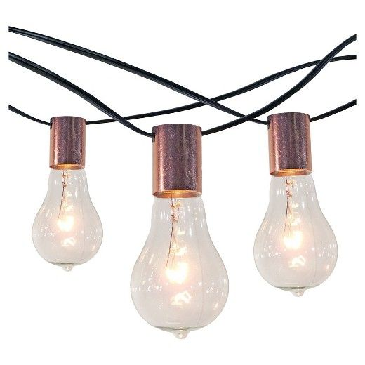 Target Solar String Lights Smith & Hawken 10Ct String Lights With Copper Socket Collar With