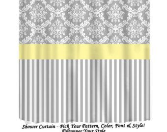 Shower Curtains Gray And Yellow