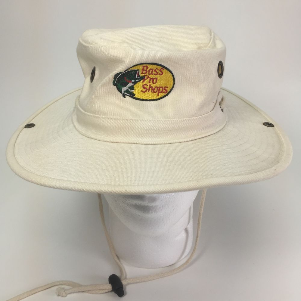 93bf72e75bb7d Vtg Bass Pro Shops Boonie Hat The Floater Dorfman Sun Bucket Canvas L  Fishing