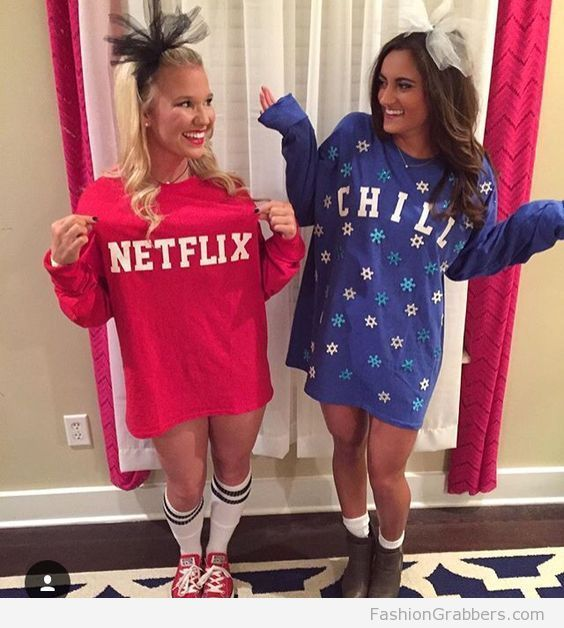 netflix and chill halloween costume for last minute party
