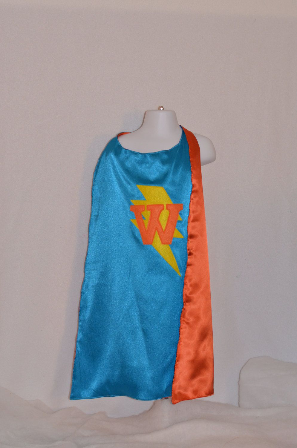 Personalized Super Hero Cape with Lightning Bolt and Child's