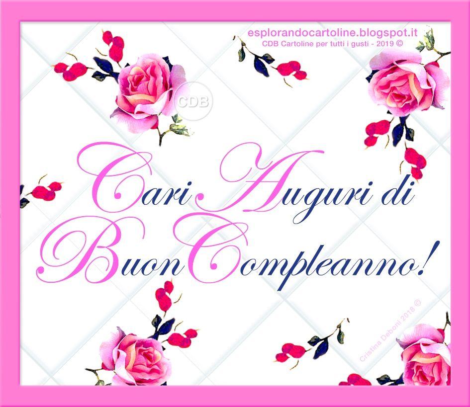 Cdb Cartoline Per Tutti I Gusti Cartolina Cari Auguri Di Buon Compleanno Con Imma Buon Compleanno Auguri Di Buon Compleanno Cartoline