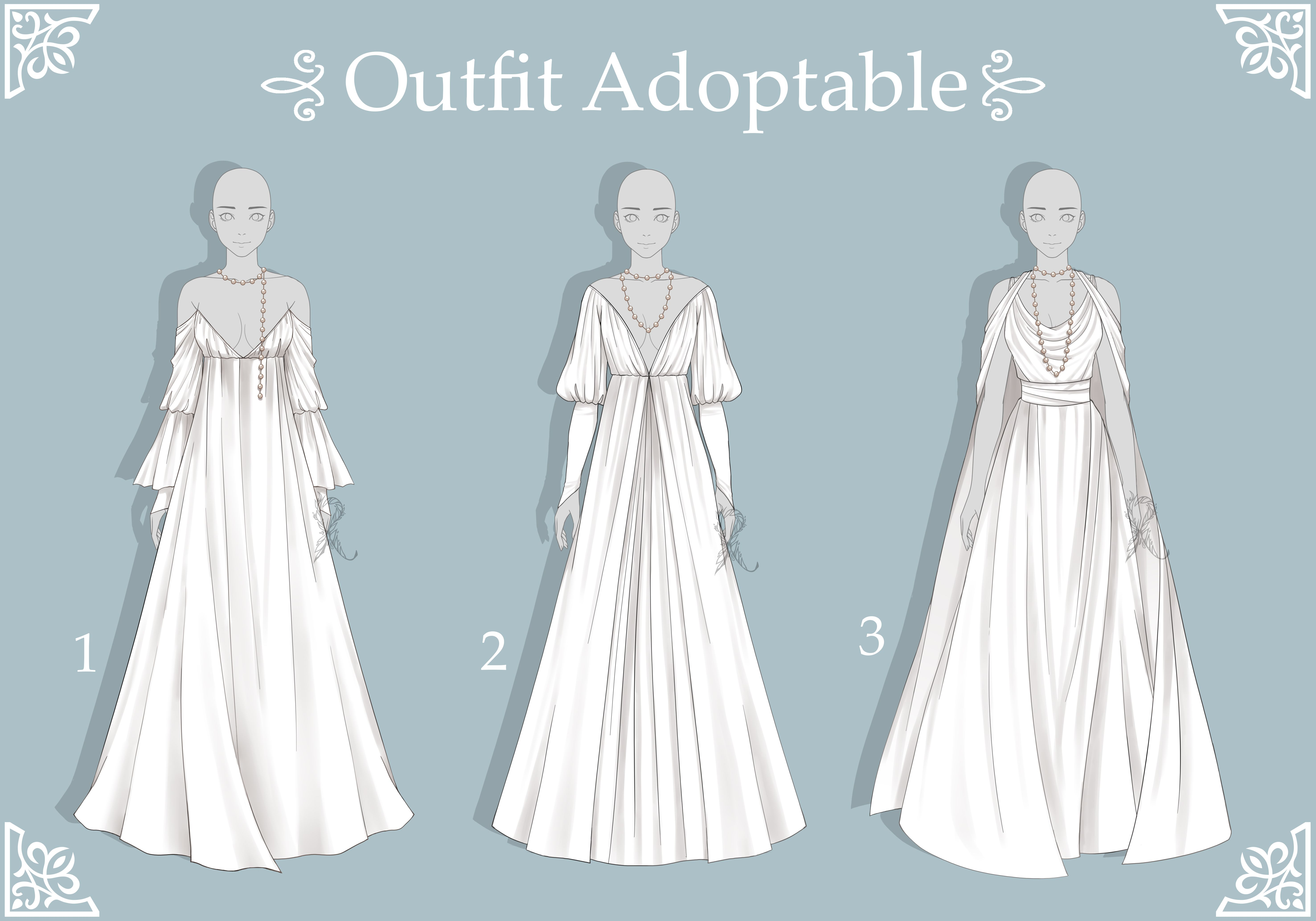 Open 2 3 Adoptable Fantasy Outfit 50 By Rosariy On