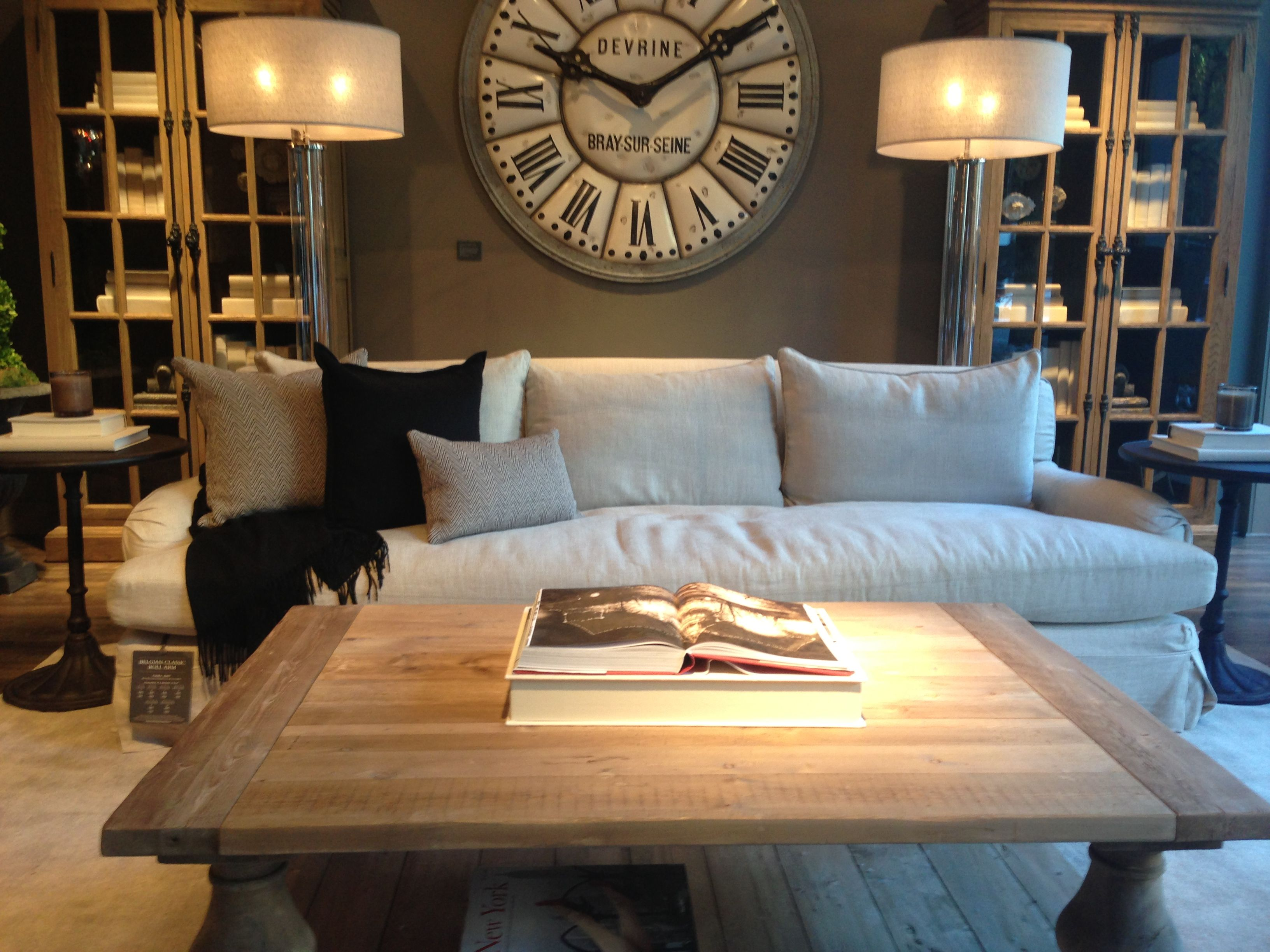 Love this living room  Restoration Hardware Our home Pinterest