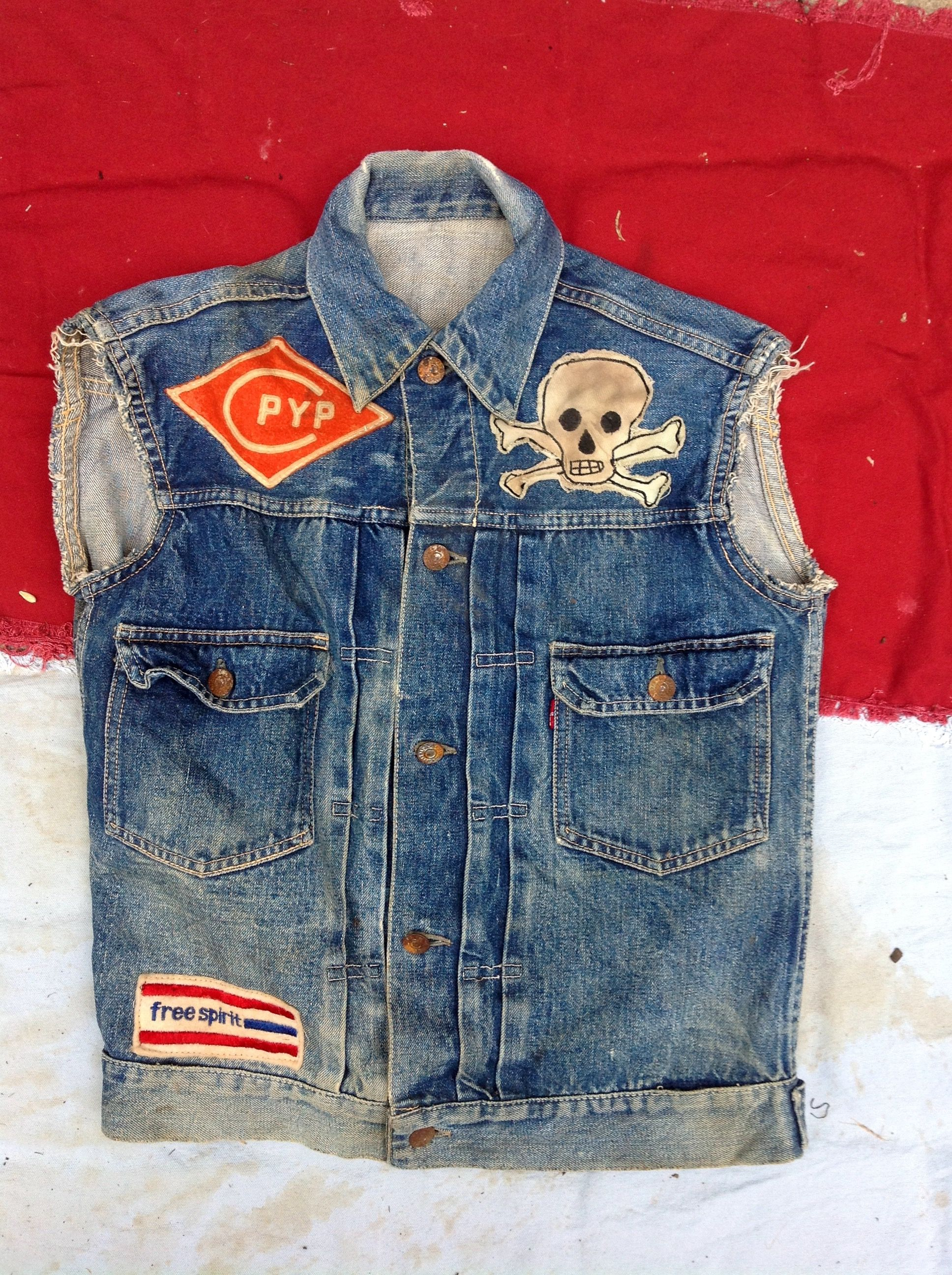 Pin By John Hefferon On Vintage Motorcycle Club Retro Outfits Biker Denim Motorcycle Vest
