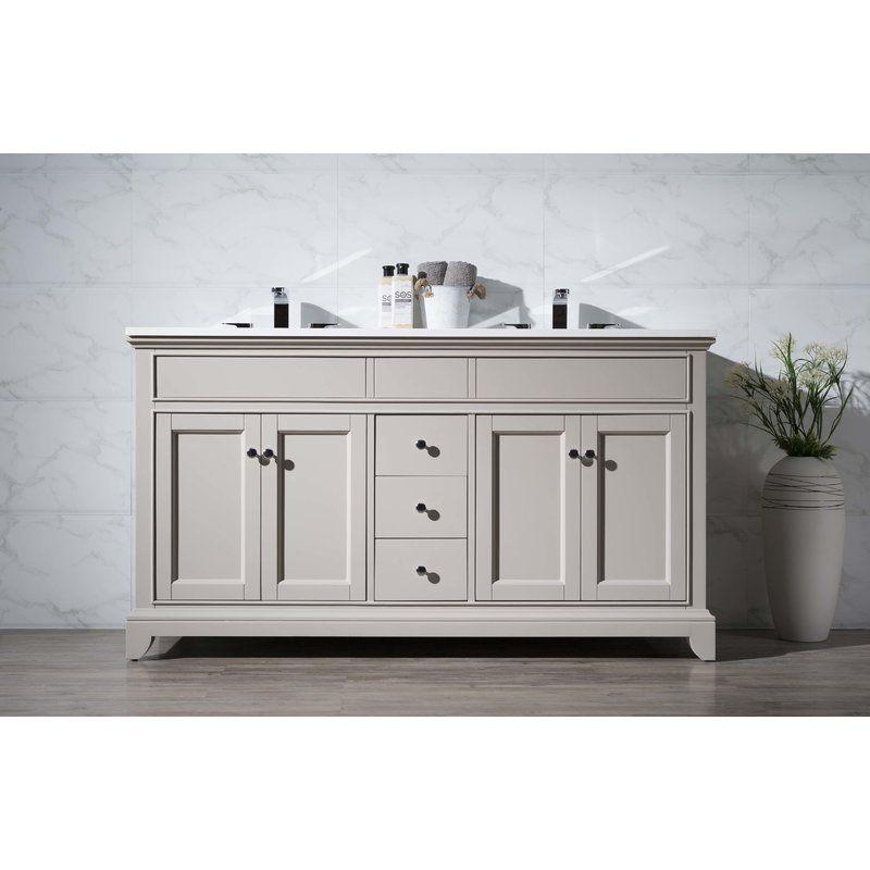 59 bathroom vanity double sink. Splash A Pleasant Piece Of Charm Onto The Interiors Any Bathroom With  Leola 59 Double Sink Bathroom Vanity Set A Gorgeous Grey Beauty
