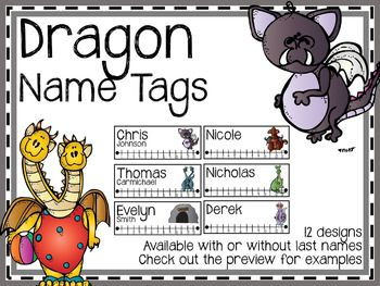 Dragon Name Tags Dragon names Name tags Tags